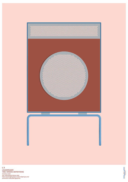 Wall Art - Digital Art - Braun L2 Loudspeaker - Dieter Rams by Peter Cassidy