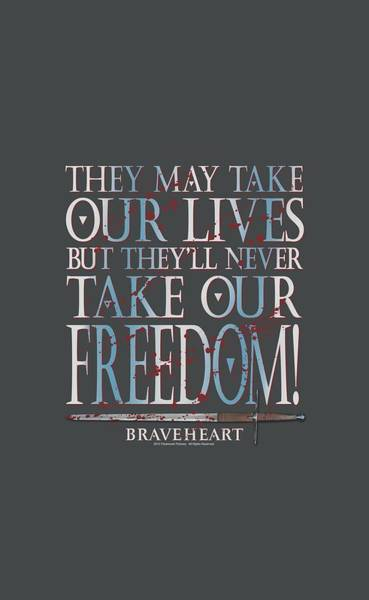 Historical Digital Art - Braveheart - Freedom by Brand A