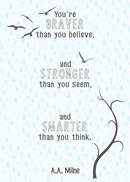 Heather Wall Art - Digital Art - Braver Stronger Smarter by Heather Applegate