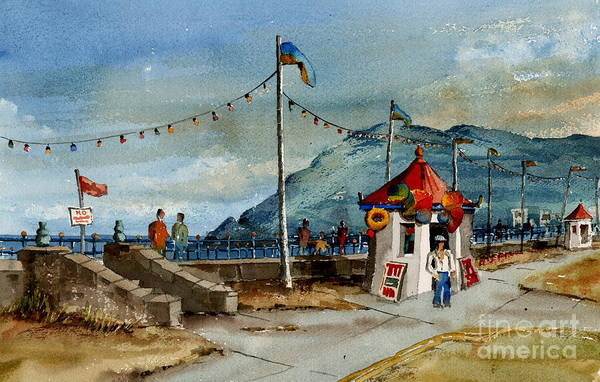Painting - Bray Head And Prom Wicklow by Val Byrne