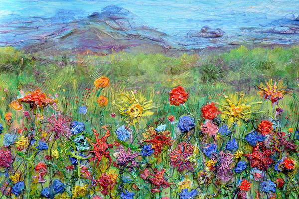 Painting - Brazen Blooms Print Option 2 by Regina Valluzzi