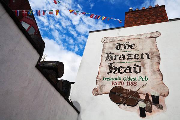 County Dublin Photograph - Brazen Head Pub Sign, Bridge Street by Panoramic Images