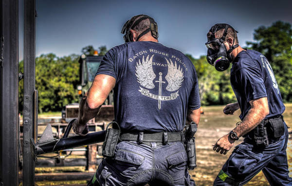 Photograph - Breaching With Baton Rouge Swat by David Morefield