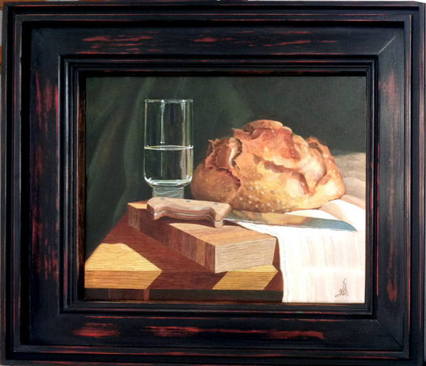 Glass Cutting Painting - Bread And Water by Wm Kelly Bailey