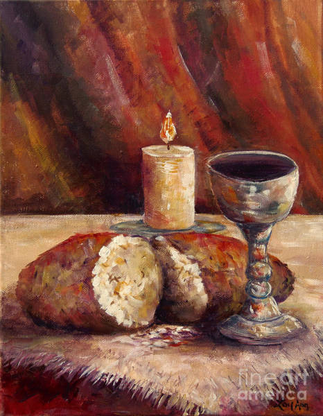 Wall Art - Painting - Bread And Wine by Lou Ann Bagnall