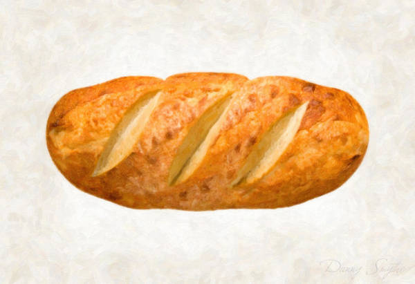 Ingredient Painting - Bread Loaf  by Danny Smythe