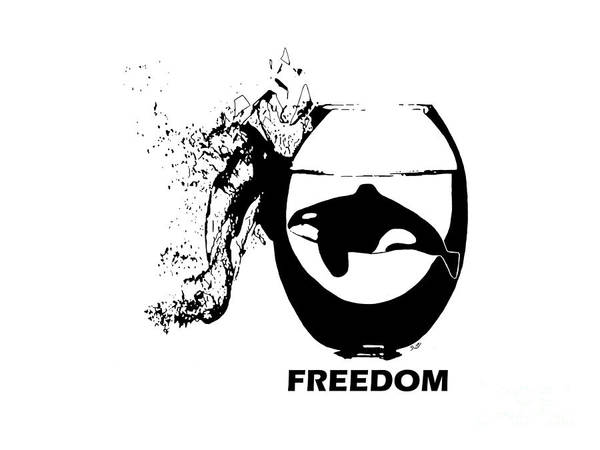 Blackfish Wall Art - Painting - Break Free by The Art Of Rido