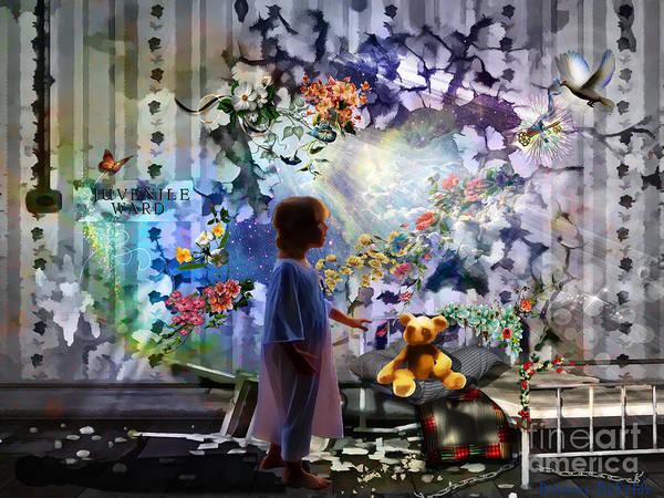Dove Digital Art - Break Through by Dolores Develde