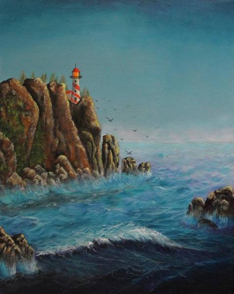 Painting - Breakers At Lighthouse Point by Bob Williams