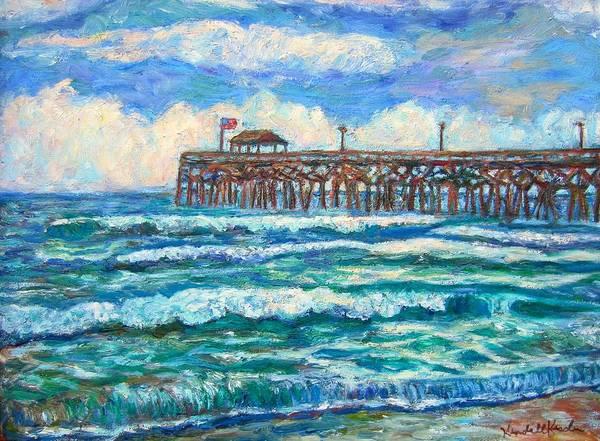 Breakers At Pawleys Island Art Print