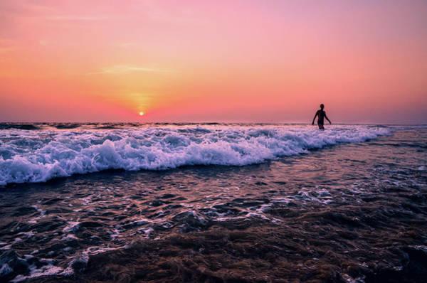 Kerala Photograph - Breakers At Sunset On Varkala Beach by Matthew P. Wicks