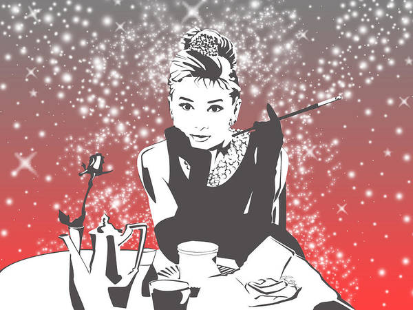 Famous People Digital Art - Breakfast At Tiffany's by Ryan Burton