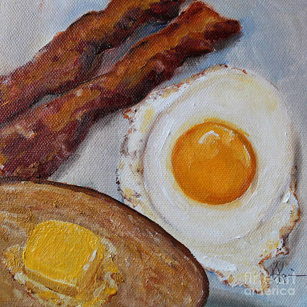 Protein Painting - Breakfast Bacon Egg And Toast by Kristine Kainer