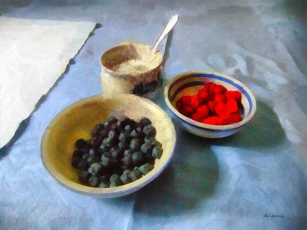 Painting - Breakfast In Red White And Blue by RC DeWinter