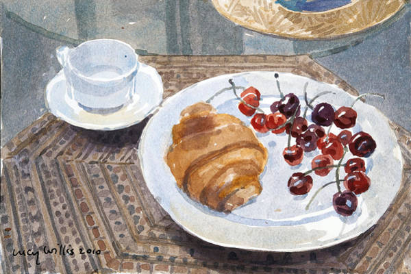 Wall Art - Painting - Breakfast In Syria by Lucy Willis