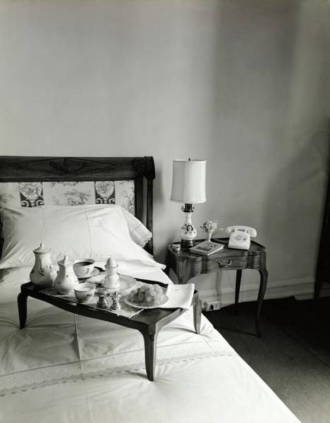Telephone Receiver Photograph - Breakfast Tray On Bed by Tom Leonard