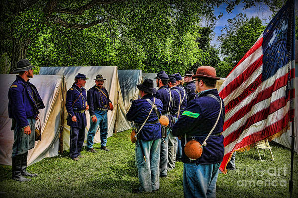 Wall Art - Photograph - Breaking Camp - Civil War by Lee Dos Santos