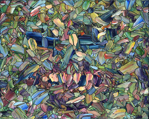 Stained Glass Wall Art - Painting - Breaking Rank by James W Johnson