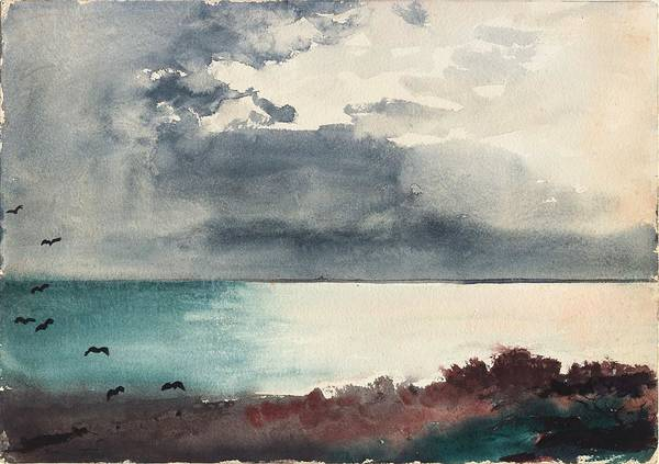 Wall Art - Painting - Breaking Storm Coast Of Maine by Winslow Homer