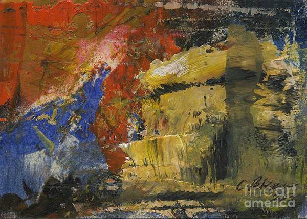 Atc Painting - Breaking The Storm. Abstract Series Aceo by Cathy Peterson