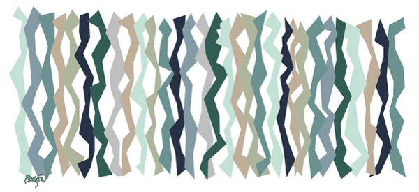 Vertical Line Digital Art - Misty Geo Color Sticks  by Patricia Lintner