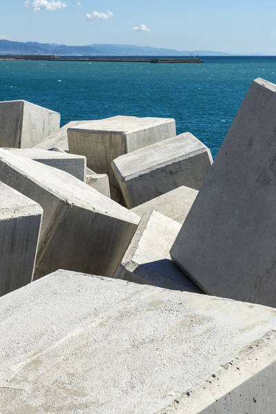 Waterbreak Wall Art - Photograph - Breakwater Cube by Jordi De Rueda Roige