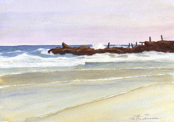 Painting - Breakwater by Peter Senesac