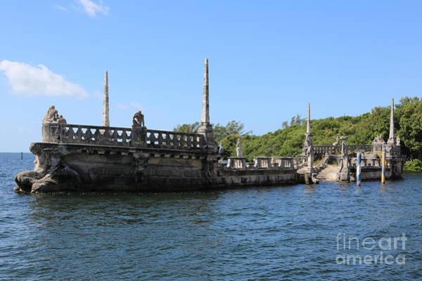 Photograph - Breakwater Ship Of Vizcaya by Carol Groenen