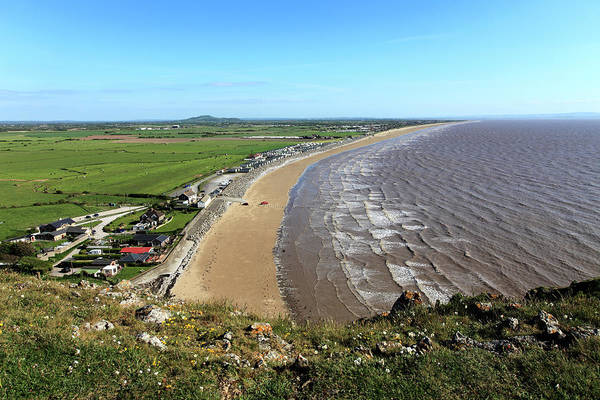 Bristol Channel Photograph - Brean Breach And Berrow Flats, Somerset by Dave Porter Peterborough Uk