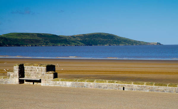 Somerset County Photograph - Brean Down From Beach At Weston-super-mare Somerset  by Michael Charles