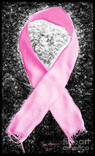 Weary Photograph - Breast Cancer Awareness Ribbon by Luke Moore