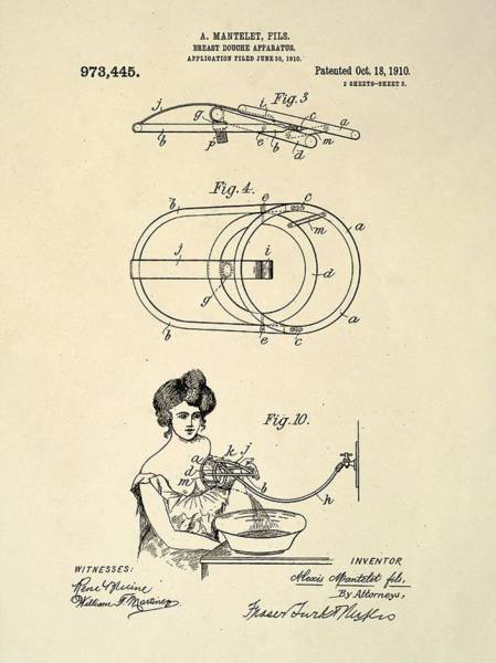 Breast Douche Patent Art Print