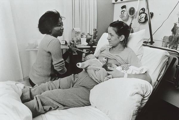 Newborn Photograph - Breastfeeding by Henny Allis/science Photo Library