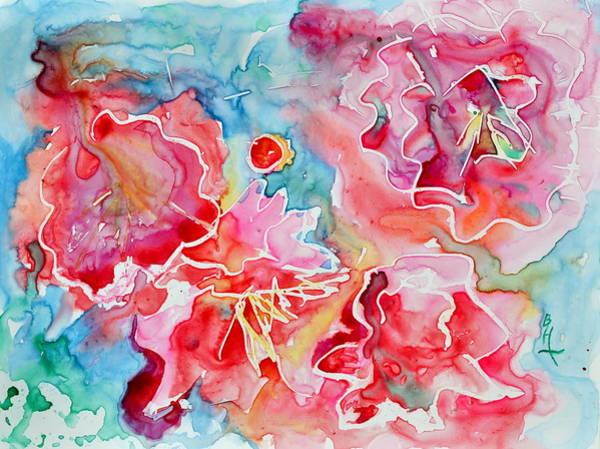 Merge Painting - Breathe by Beverley Harper Tinsley
