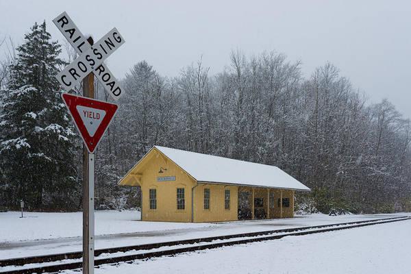 Photograph - Brecksville Station Snowfall by Clint Buhler