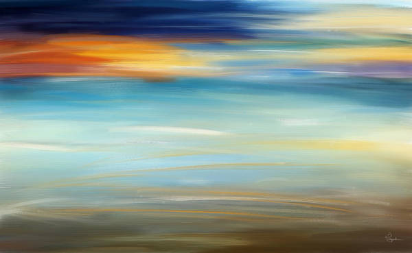 Wall Art - Painting - Breeze-seascapes Abstract Art by Lourry Legarde