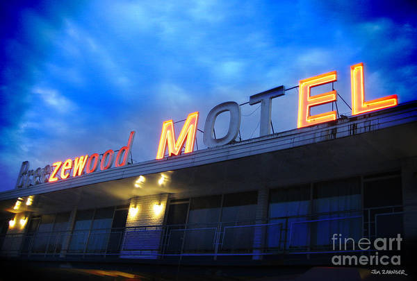 Pennsylvania Photograph - Breezewood Hotel by Jim Zahniser