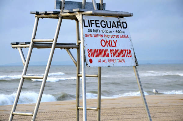 Rockaway Photograph - Breezy Lifeguard Chair by Maureen E Ritter