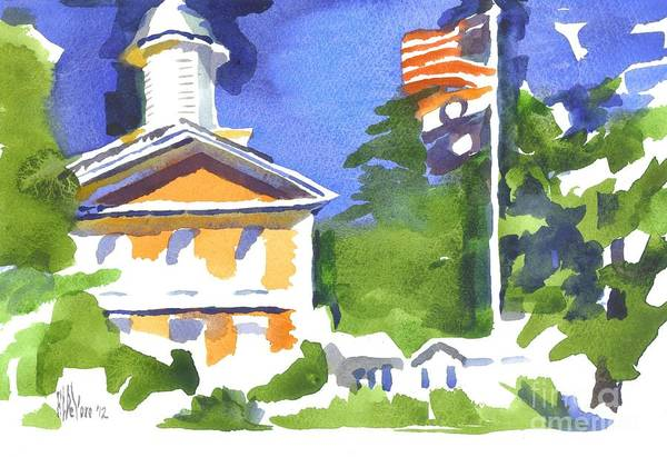 Painting - Breezy Morning At The Courthouse by Kip DeVore