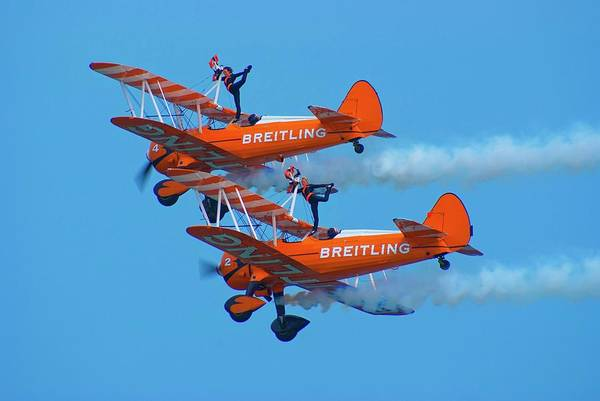 Sunderland Wall Art - Photograph - Breiting Wingwalkers by Mark Williamson
