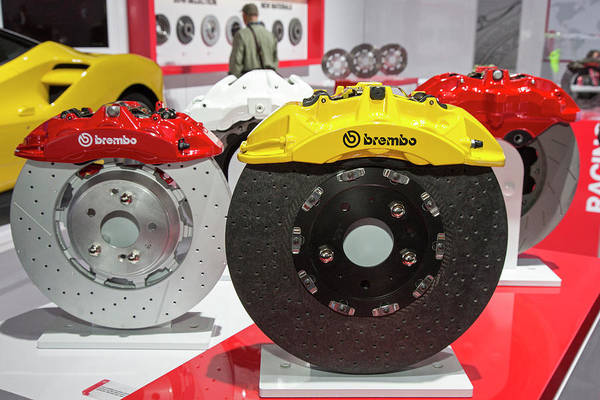 Detroit Auto Show Photograph - Brembo Car Disc Brakes by Jim West/science Photo Library