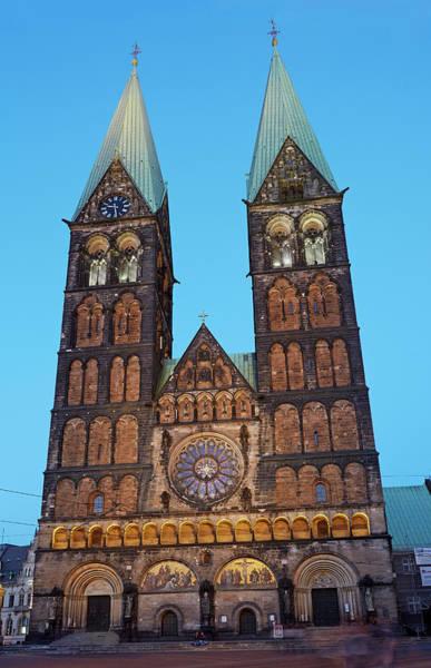 Bremen Wall Art - Photograph - Bremen Cathedral At Dusk by Allan Baxter
