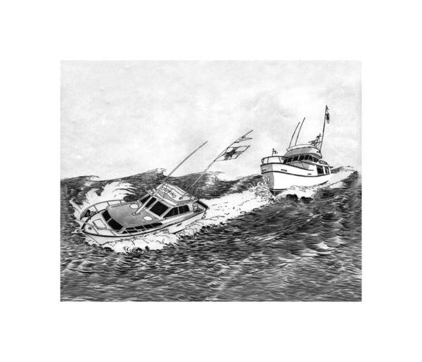 Log Drawing -  Navigation Contest Bremerton Heavy Weather by Jack Pumphrey