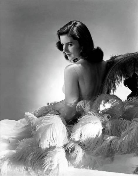 Feathers Photograph - Brenda Frazier by Horst P. Horst