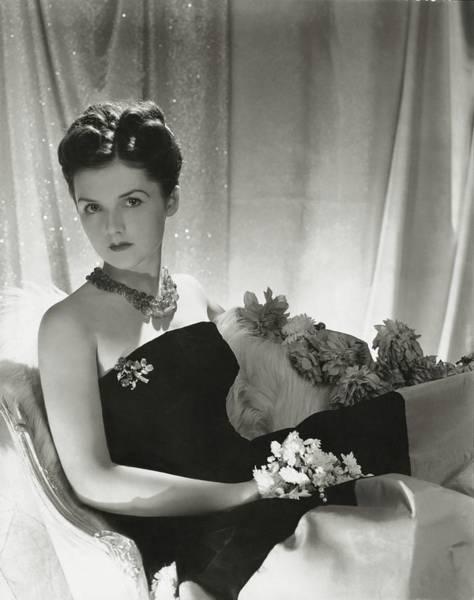 American Beauty Photograph - Brenda Frazier Wears A Strapless Velvet Dress by Horst P. Horst