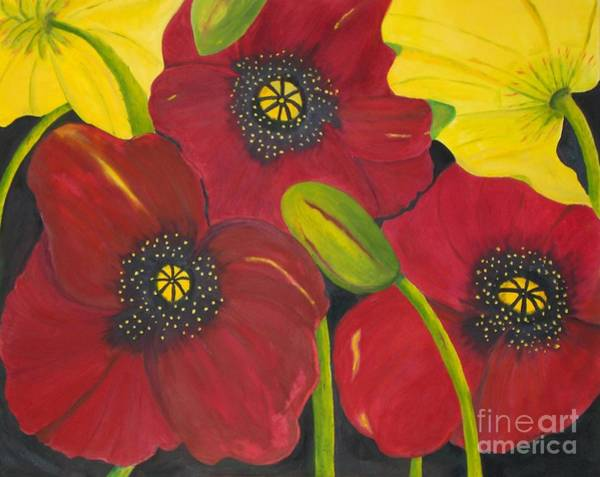 Painting - Brenda's Poppies by Peggy Dickerson