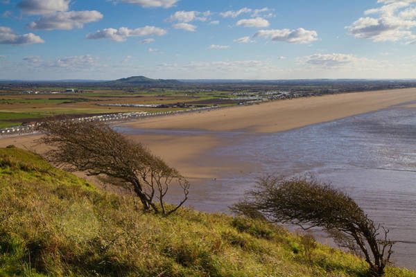 Somerset County Photograph - Brent Knoll And Brean Beach From Brean Down In Somerset  by Michael Charles