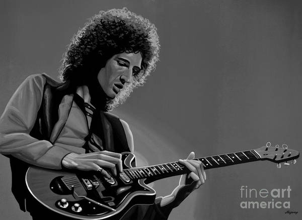 Hard Rock Mixed Media - Brian May Of Queen by Meijering Manupix