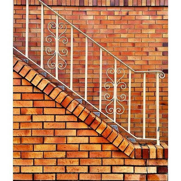 Wall Art - Photograph - Brick And Bannister by Julie Gebhardt