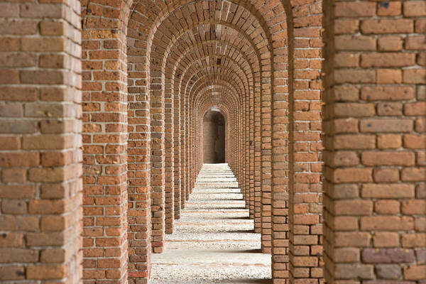 Wall Art - Photograph - Brick Arches At Fort Jefferson In Dry by Michael Melford